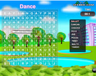 Word search gameplay játék